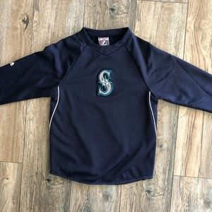 Boys Size S Seattle Mariners Majestic Pullover